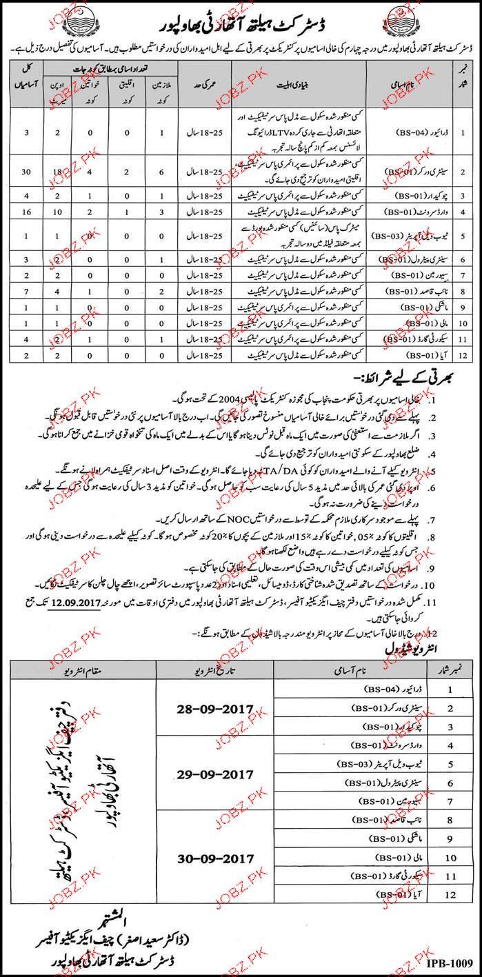 District Health Authority District Bahawalpur Jobs