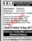 Godown Officers Job Opportunity