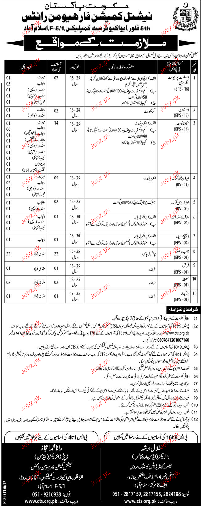 National Commission For Human Rights NCHR  CTS Jobs