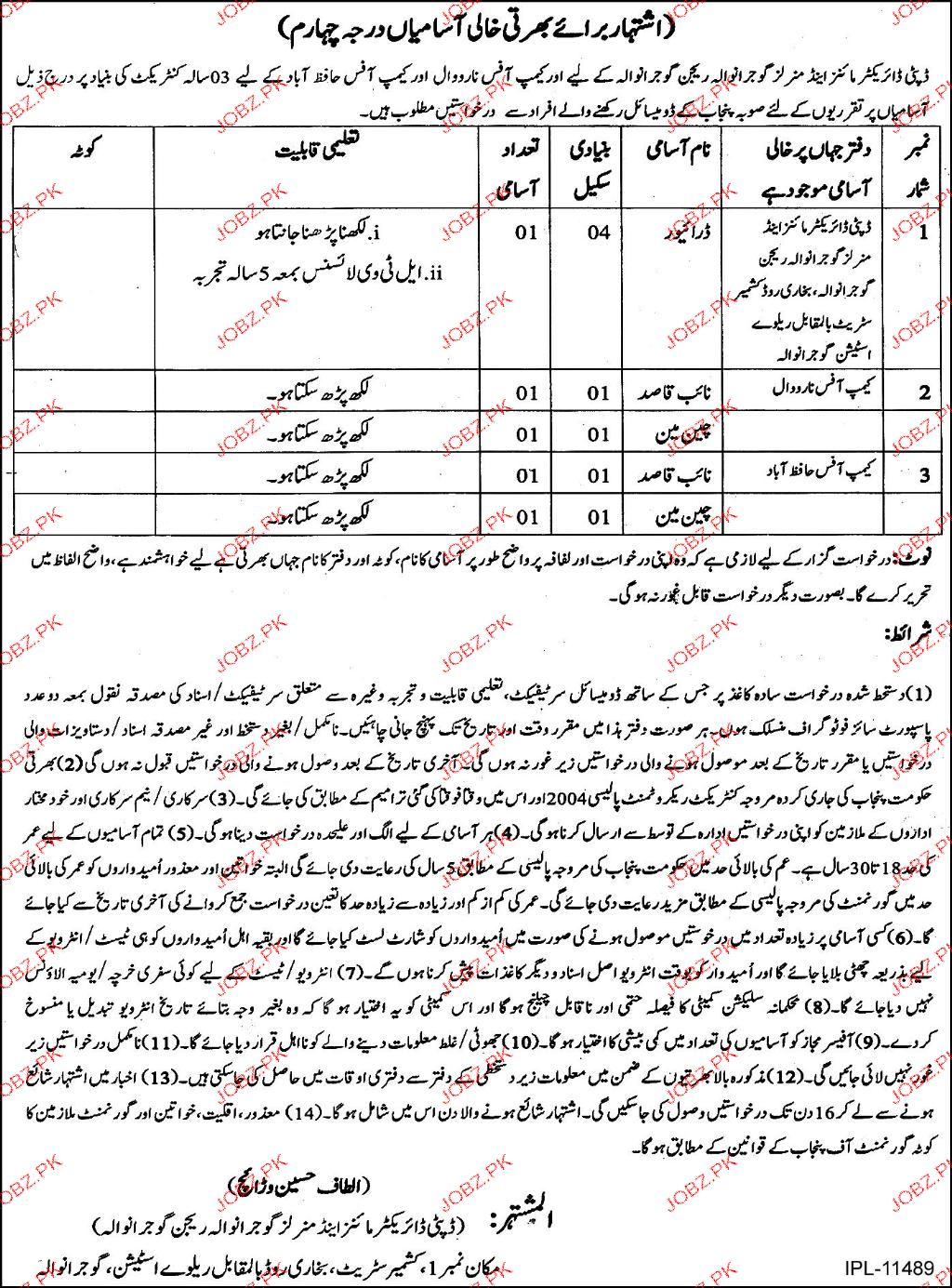 Mines and Mineral Department  Gujranwala Jobs