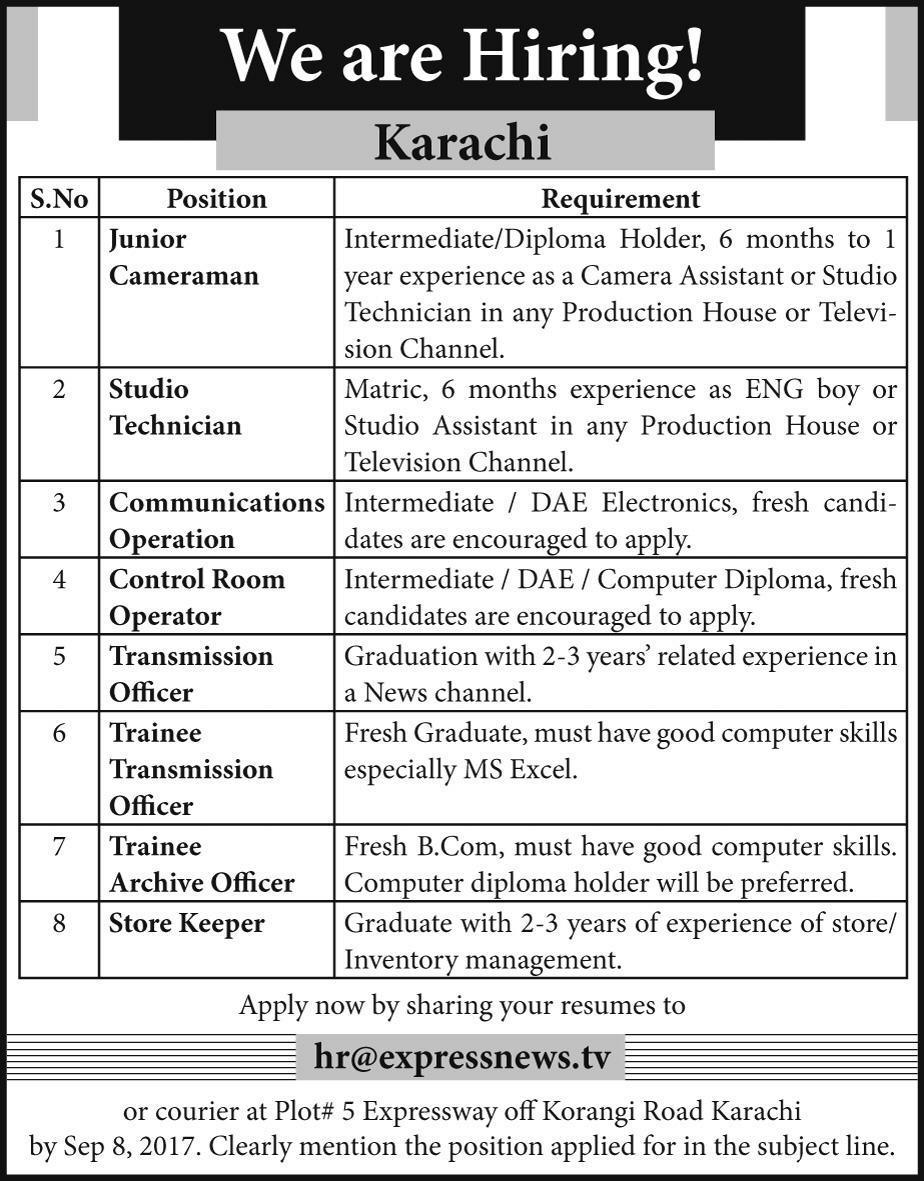 express media group jobs 2017 2019 job advertisement pakistan