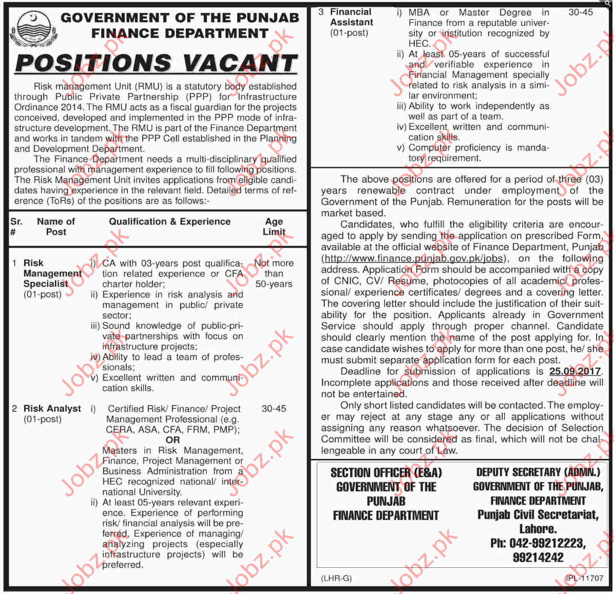 Jobs In Finance Department