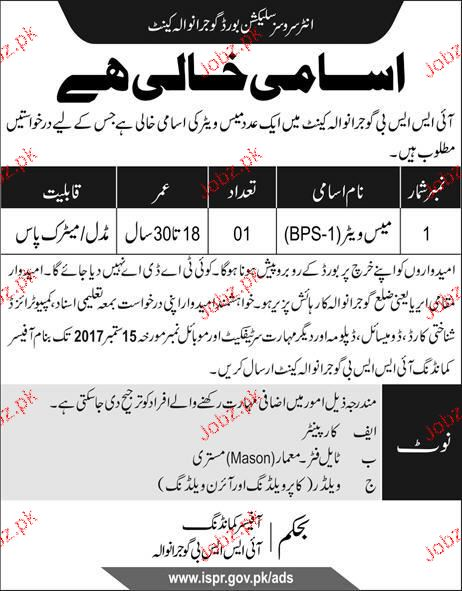 Inter Services Selection Board ISSB Jobs Open