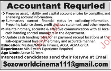 Accountant Required For Private Company