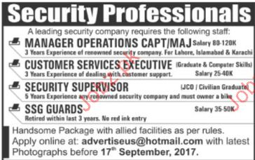 Manager Operations Required For Private Office