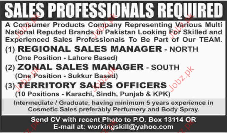 Sales Professionals Jobs Opportunity
