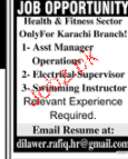 Assistant Manager Operations, Electrical Supervisors Wanted