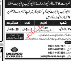 LTV Drivers Job Opportunity