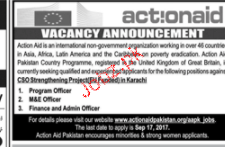 Program Officers, M & E Officers and Admin Officers Wanted