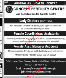 Lady Doctors, Female Coordinators Job Opportunity