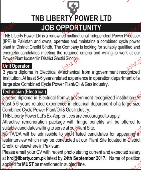 The Liberty Power Ltd Jobs