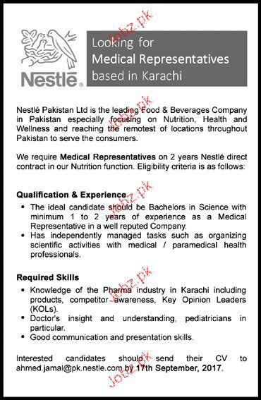 Medical Representatives Job Opportunity