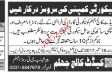 Cadet College Jhelum Jobs