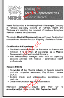 Medical Representatives Job Opportunity