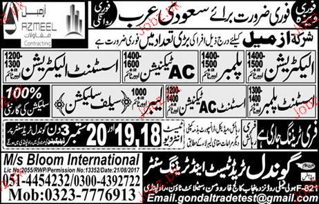 Painters, Plumbers, Electricians, AC Technicians Wanted