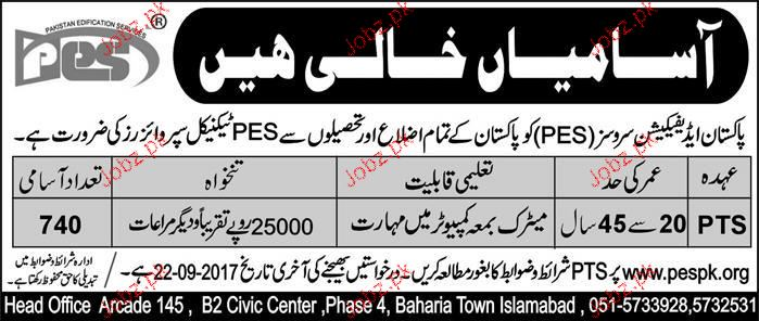 PEC Technical Supervisors Job Opportunity