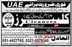 Cleaners Required For United Arab Emirates