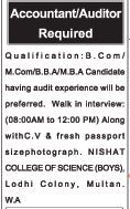 Accountant Required For Private Office