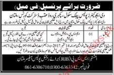 Principal Required For The Educators Police Public School