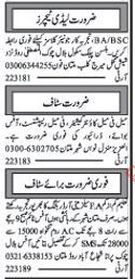 Cashier Required For Private Office