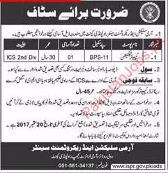 Computter technician Required For Army Selection Center