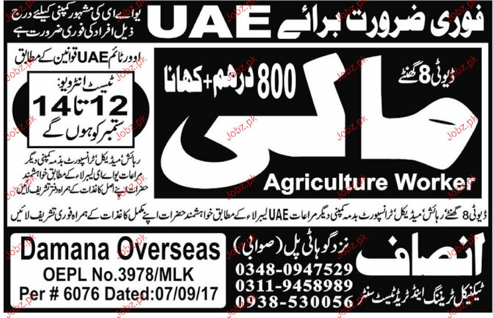Agriculture Workers Malis Job Opportunity