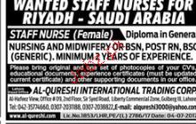 Staff Nurses Job Job Opportunity