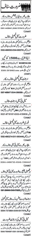 Private Company Required Clerical Staff