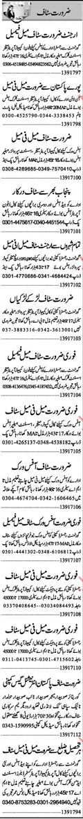 Telephone Operator Required For Private company