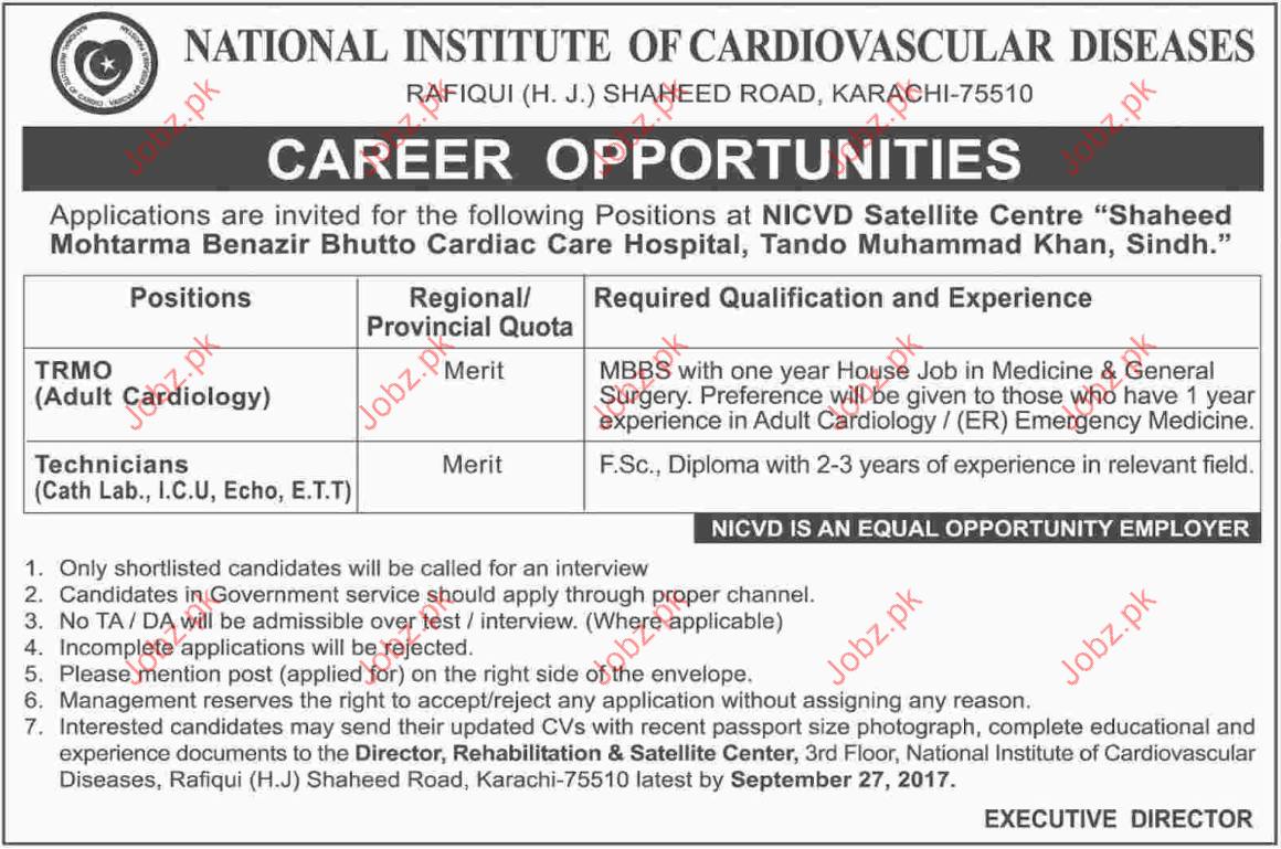 National Institute Of Cardiovascular Diseases Required TRMO