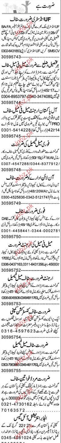 Customer Officers, Salesmen, Sales Supervisors Wanted