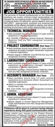 University of Karachi Management Jobs