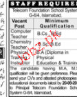 Computer Teachers, Chemistry Teachers Job Opportunity
