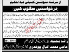 Tehsile Municipal Committee TMA  Jobs