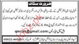 Teachers required for Ujala School Centre USC