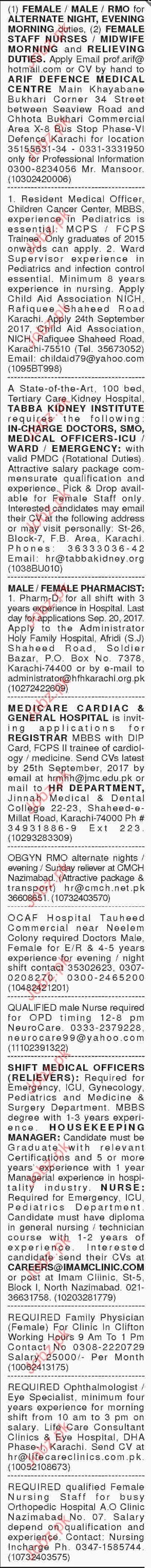 Medical Staff Required