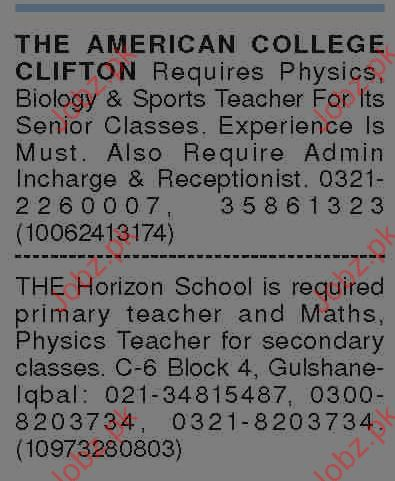 American College Clifton Jobs Opportunity