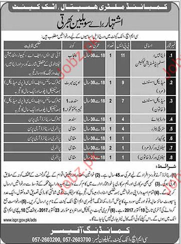 Medical Staff Required For Combined Military Hospital CMH