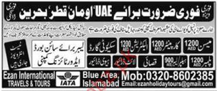 Meson & Carpenter Required For United Arab Emirates