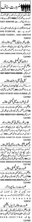 Helper Required For Cloth House