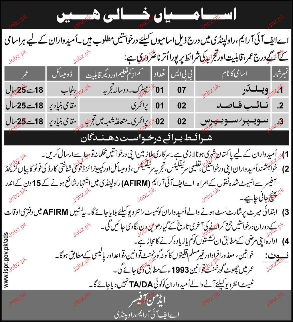 FMRIM Rawalpindi Jobs