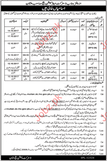 District & Session Court Required Budget & Accounts