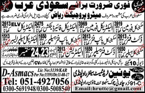 Mechanical Foreman, Electrical Foreman Job Opportunity