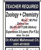 Science Teachers Job Opportunity