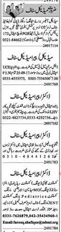 Medical Staff Jobs For Lahore, Punjab