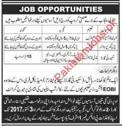 Supervisors & Security Guard Required In Bahawalpur