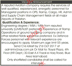 Admin Manager and Manager Human Resource Wanted