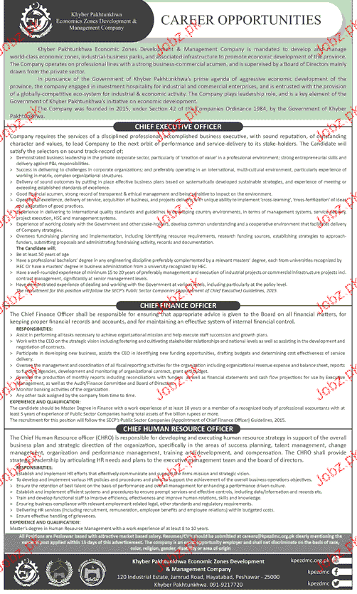 Khyber Pakhtunkhawa Economics Zones Development Jobs