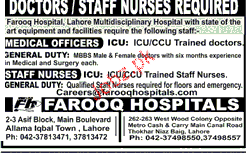 Staff Nurses and Medical Officers Job Opportunity