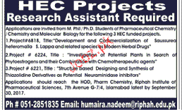 Research Assistants Job Opportunity